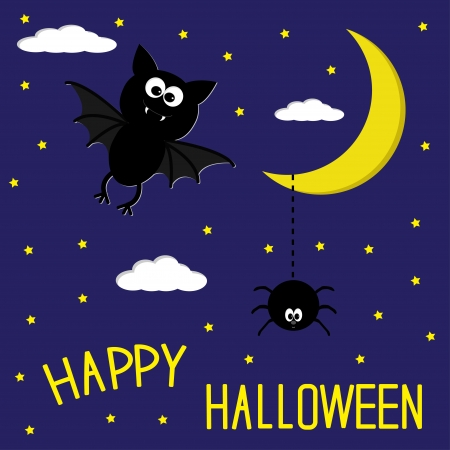 Halloween card illustration Vector