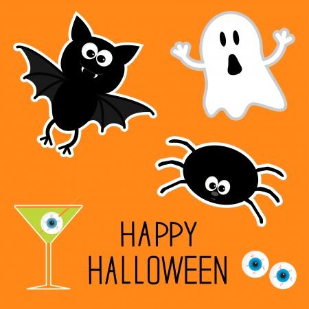 Happy Halloween set illustration Vector