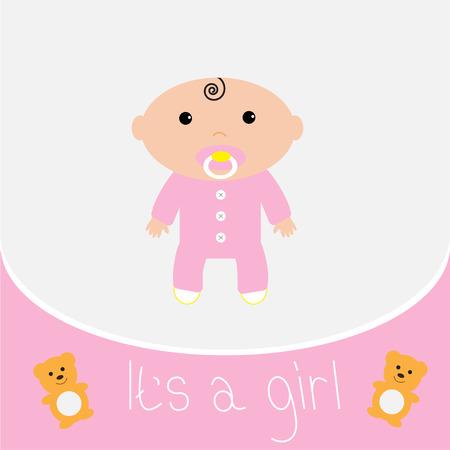 it s a girl: Baby shower card  It
