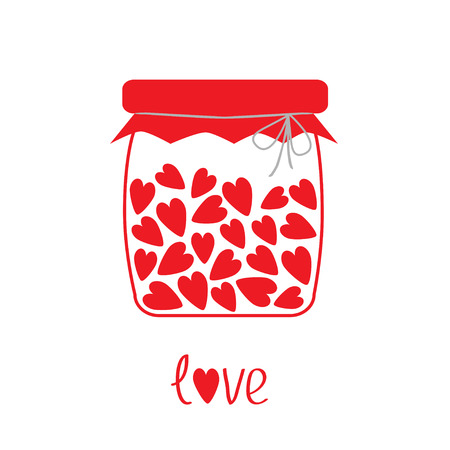 Love bottle with hearts inside  illustration   Card