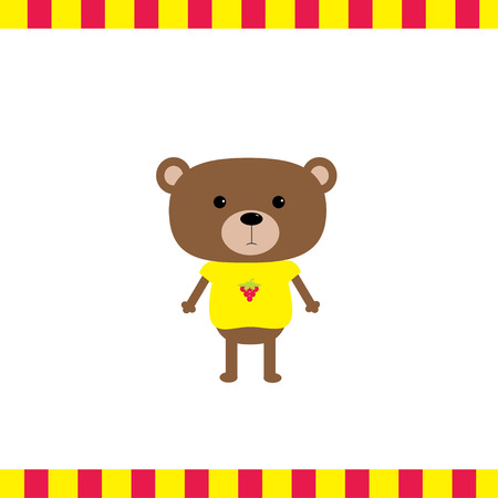 cartoon bear: Cartoon bear boy card