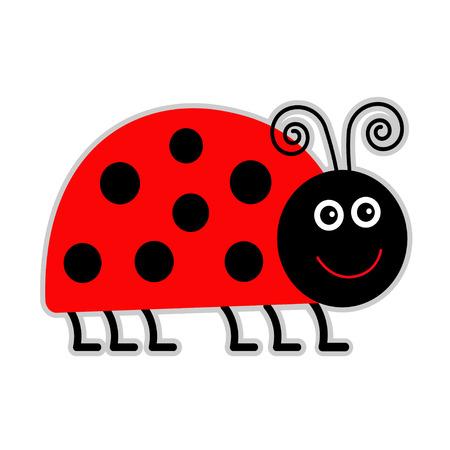 lady bug: Cute Cartoon-Dame Bug. Isoliert. Vektor-Illustration.