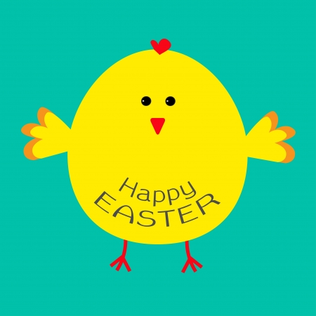 baby chick: Cute easter chicken .  Card. Vector illustration. Illustration