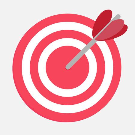 Target with heart arrow. Vector illustration. Stock Vector - 25538796