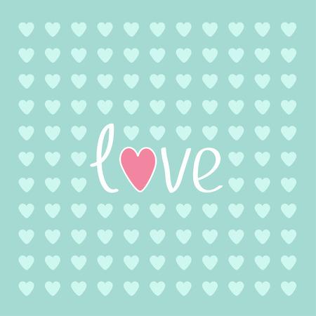 Blue heart love card. Vector illustration. Illustration