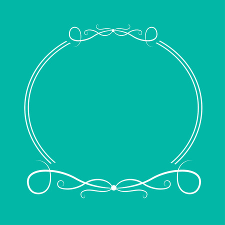 decorative border: Calligraphic round frame #4.  Abstract design element .Vector illustration.