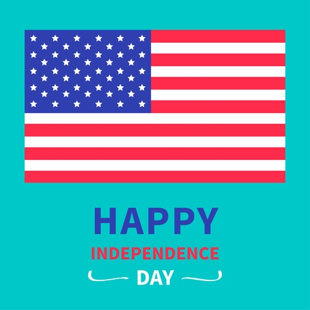 Happy independence day United states of America. 4th of July. Card. Vector