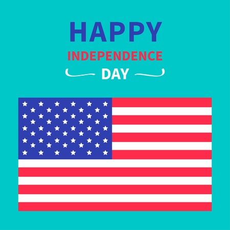4th of July. Happy independence day United states of America. Card.  Vector
