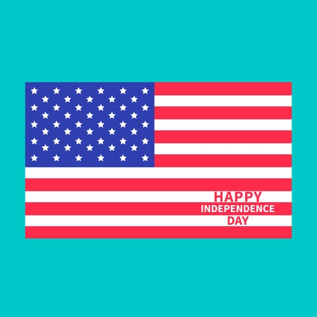 Happy independence day United states of America. 4th of July. Center.  Vector