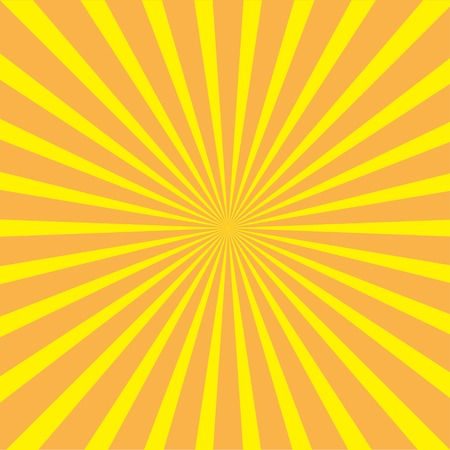 ray of light: Sunburst with ray of light. Template.  Yellow and orange background. Vector illustration