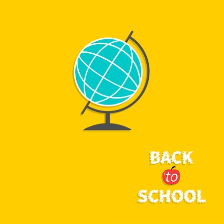 World globe. Back to school. Flat design style. Vector illustration Vector