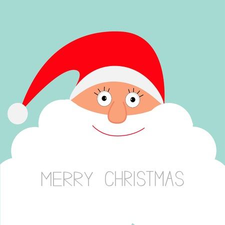 Santa Claus face with big beard.