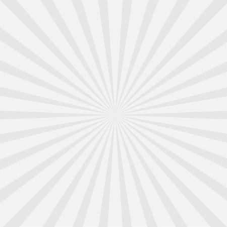 一筋の光と灰色のサンバースト。テンプレートの背景。ベクトル図