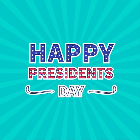 ray of light: Blue sunburst with ray of light. Presidents Day background flat design Vector illustration