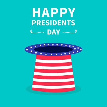 Hat with stars and strip. Presidents Day background flat design Vector illustration Vector