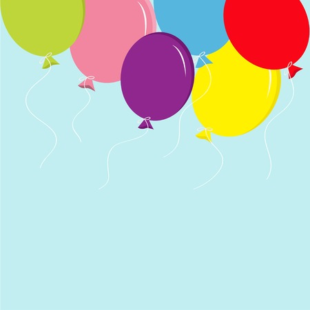 temlate: Colorful balloon set in the sky Greeting card background Temlate Flat design Vector illustration Illustration