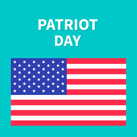 president of the usa: American flag Patriot Day background flat design Card Vector illustration