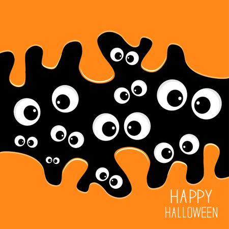 dark eyes: Eyes Halloween card. Spooky background Flat design.  Vector illustration