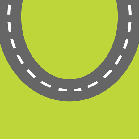 marking: Background with round road white marking. Template. Flat design. Vector illustration