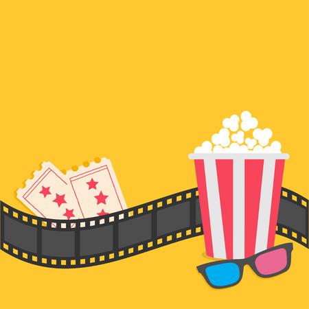 Popcorn. Filmstreifen Grenze. Öffnen Film Clapper Board-Symbol. Red ...
