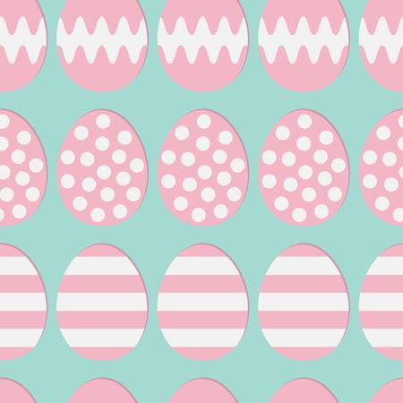 Feliz Pascua Pintura Cáscara De Huevo. Color Rosa Con Punto, Franja ...