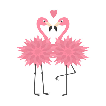 beak: Two flamingo set