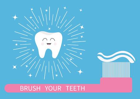 Brush your teeth illustration Illustration