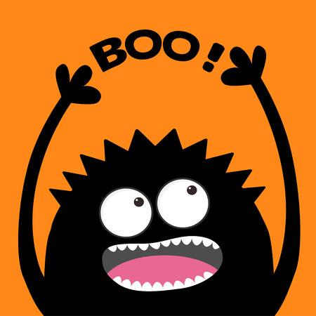 Screaming monster head Ilustração