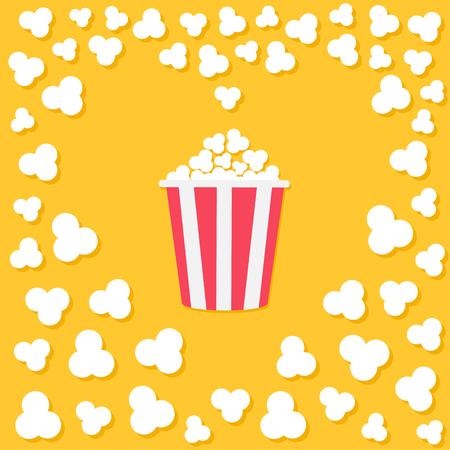 Popcorn popping vector illustration. Illustration