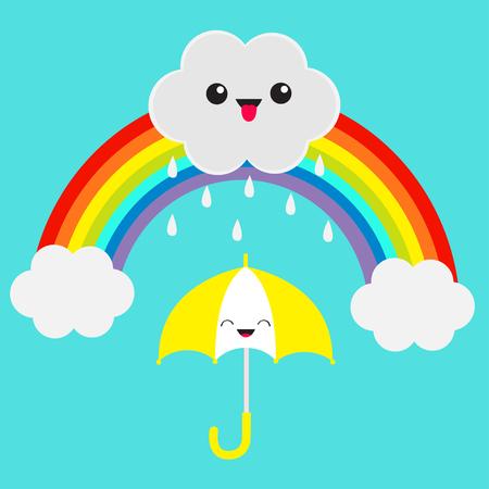 Rainbow with cloud design.