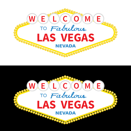 Welcome to Las Vegas sign icon .