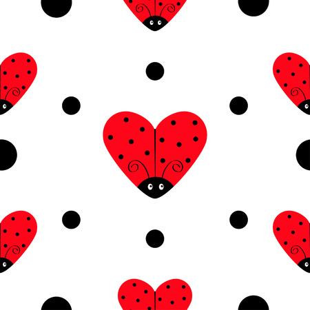 ladybug ladybird icon set heart shape baby collection funny