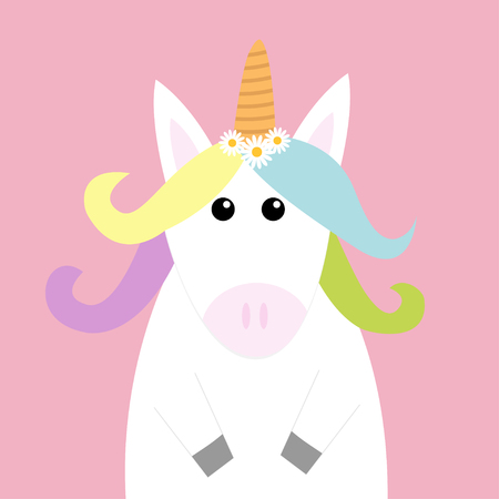 Unicorn icon vector illustration