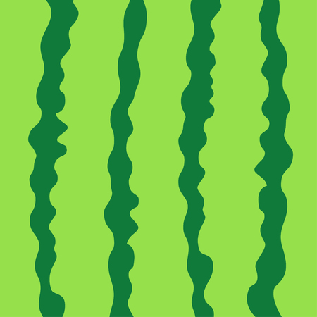 Watermelon green striped peel skin rind cut with in a row. Macro closeup. Summer Seamless Pattern. Food background. Flat design. Vector illustration.