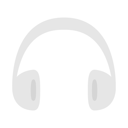 Headphones earphones icon. Gray silhouette. Music card. Flat design style. White background. Isolated. Vector illustration