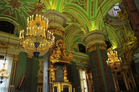 Inside the Admiralty building in Saint Petersburg, Russia