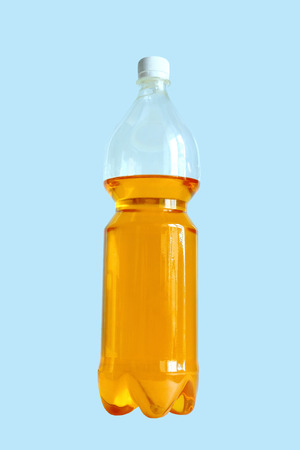 standalone: Bottle of sunflower oil on a stand-alone background