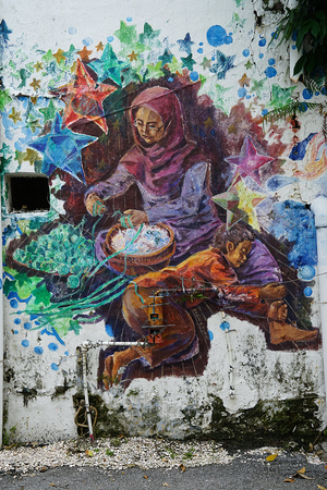 Street Art in the Streets of Malaysia . 에디토리얼