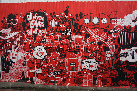 Street Art in the Streets of Malaysia . Editorial