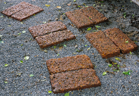 laterite: laterite Walkway Stock Photo