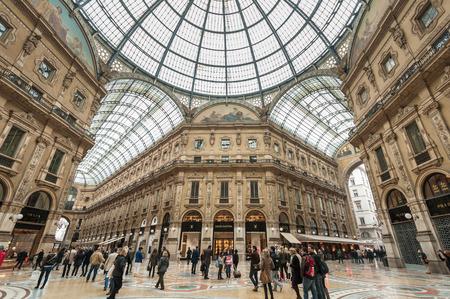 Milan, Italy - April 11, 2013 : Galleria Vittorio Emanuele II in Milan. It