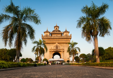 Patuxay(Patuxai) victory gate in Vientian Laos photo