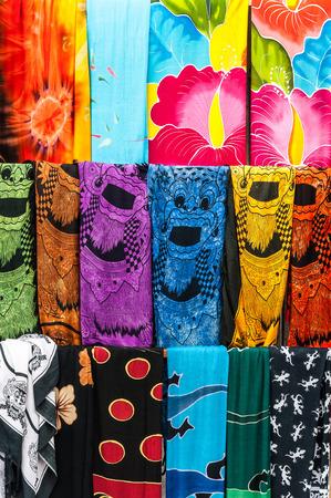 balinese: Colorful sarongs (balinese cloth), Bali, Indonesia