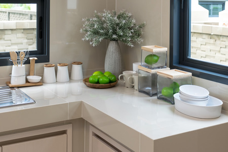 pantry: modern pantry with utensil in kitchen