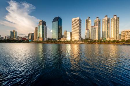 benjakitti: business area buildings of Bangkok, Benjakitti Park, Thailand