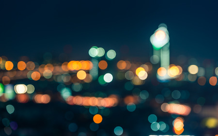abstract city: Bokeh building in Thailand