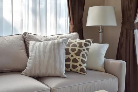 sofa: modern living room design with sofa and lamp