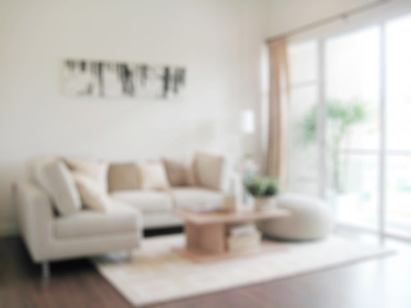 living room: blur image of modern living room interior Stock Photo