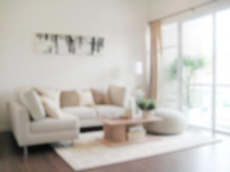 blur image of modern living room interior Foto de archivo