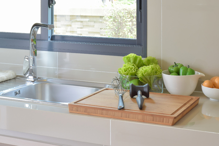 pantry: pantry with kitchenware and utensil in modern kitchen